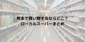 熊本で買い物をするなら?ローカルスーパーや大学近辺のお店まとめ